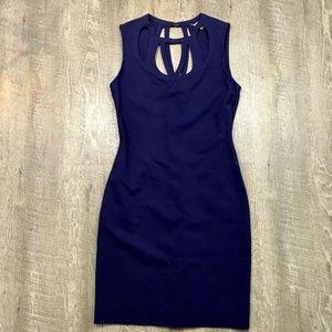 Diane Von Furstenburg Sheath Dress Amy Blue Sz 8